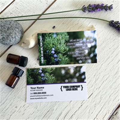 Print for essential oils for Juniper business card